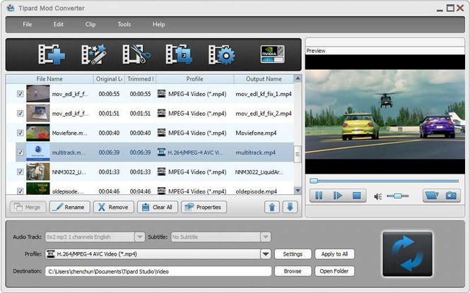 Tipard Mod Converter Screenshot 1