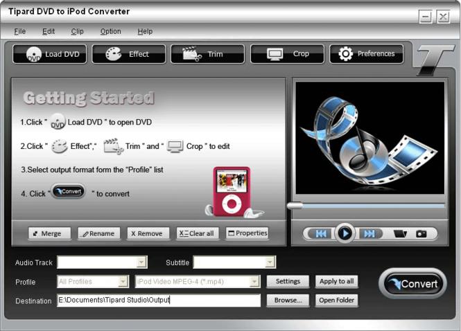 Tipard DVD to iPod Converter Screenshot 3
