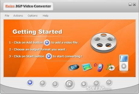 Raize 3GP Video Converter Screenshot