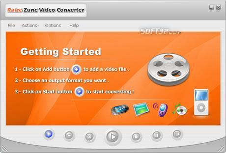 Raize Zune Video Converter Screenshot