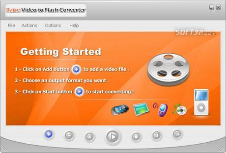 Raize Video to Flash Converter Screenshot