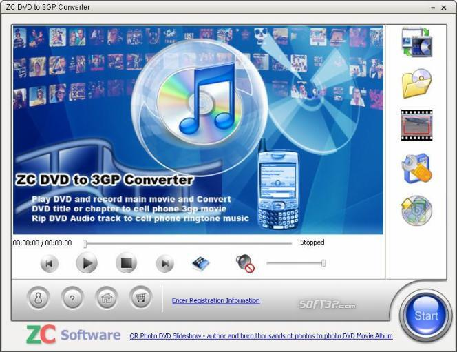 ZC DVD to 3GP Converter Screenshot 1