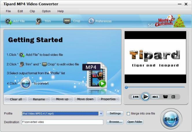Tipard MP4 Video Converter Screenshot 2