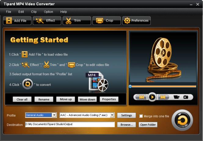 Tipard MP4 Video Converter Screenshot 3