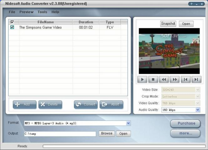 Nidesoft Audio Converter Screenshot 2