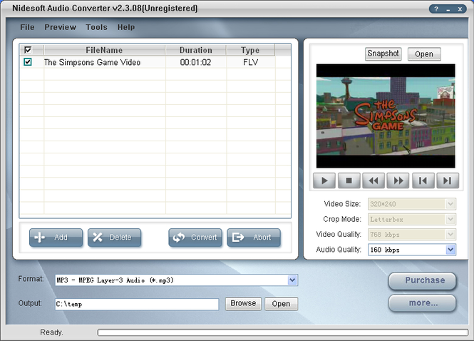 Nidesoft Audio Converter Screenshot