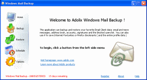 Adolix Windows Mail Backup Screenshot 1