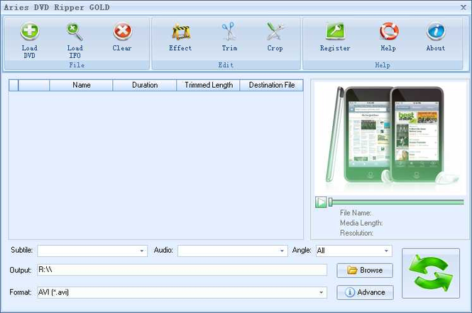 Aries DVD Ripper GOLD Screenshot 1