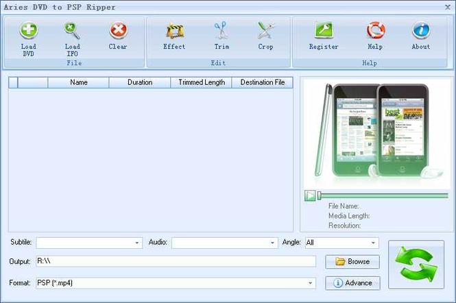Aries DVD to PSP Ripper Screenshot 1