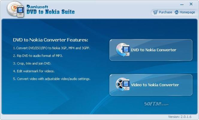 Daniusoft DVD to Nokia Suite Screenshot