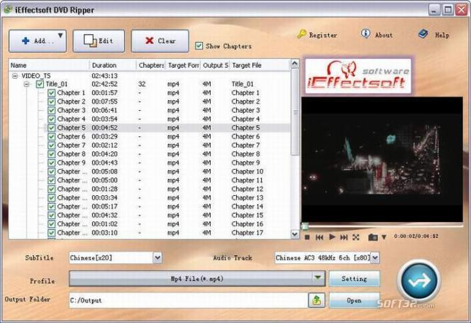 iEffectsoft DVD Ripper Screenshot