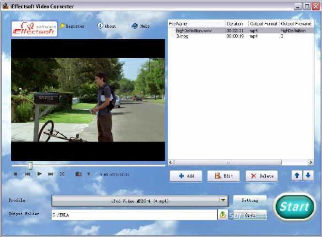 iEffectsoft Video Converter Screenshot