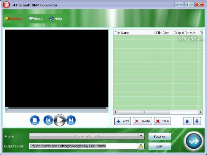 iEffectsoft DRM Converter Screenshot 1