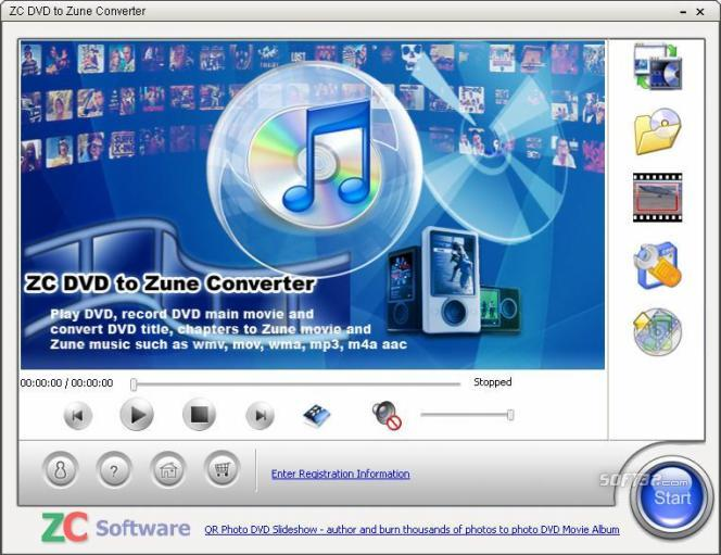 ZC DVD to Zune Converter Screenshot 1