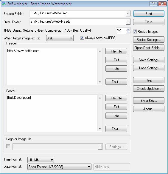Exif wMarker Screenshot 1