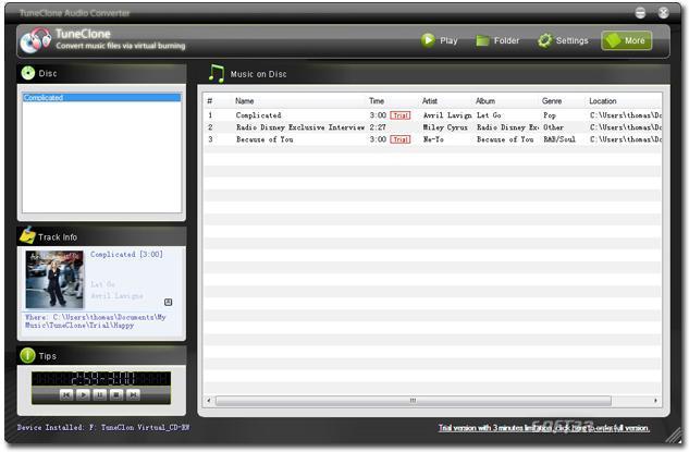TuneClone Audio Converter Screenshot 2