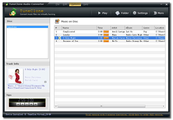 TuneClone Audio Converter Screenshot