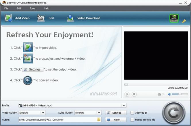 Leawo FLV Converter Screenshot 3