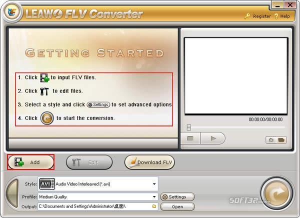 Leawo FLV Converter Screenshot 2