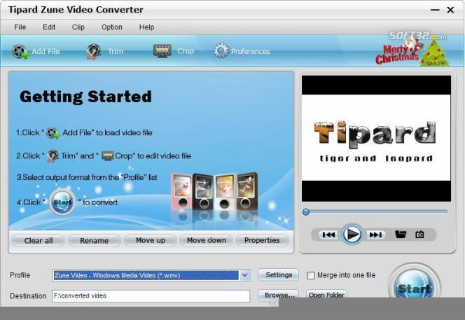 Tipard Zune Video Converter Screenshot 3