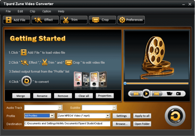 Tipard Zune Video Converter Screenshot 2