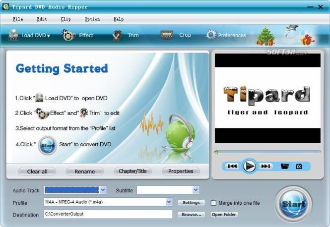 Tipard DVD Audio Ripper Screenshot 3