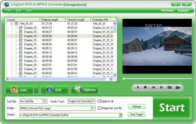 iOrgSoft DVD to MPEG Converter Screenshot 3