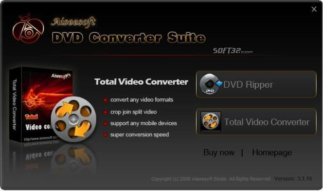 Aiseesoft DVD Converter Suite Screenshot 4