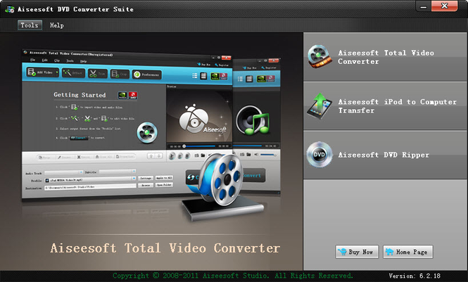 Aiseesoft DVD Converter Suite Screenshot 1