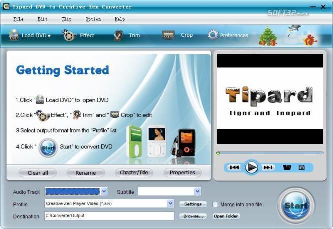 Tipard DVD to Creative Zen Converter Screenshot 3