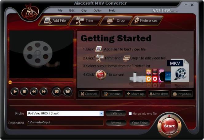 Aiseesoft MKV Converter Screenshot 3