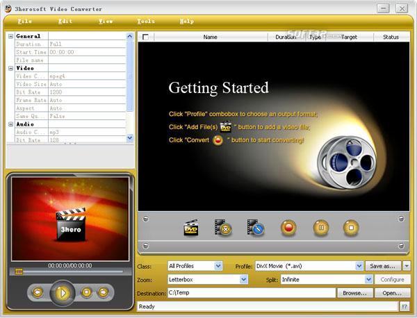 3herosoft Video Converter Screenshot 2