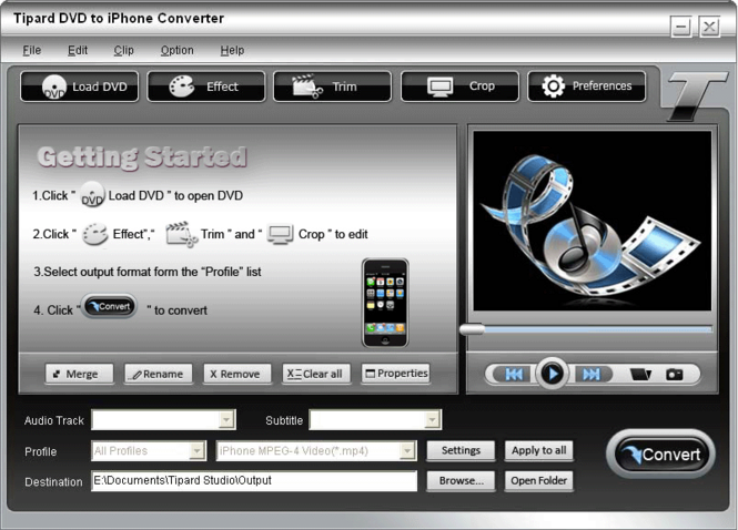 Tipard DVD to iPhone Converter Screenshot 2