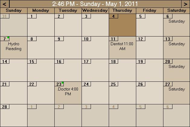 Desktop Events Planner Screenshot 1