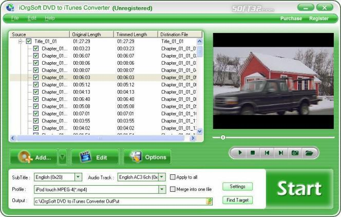 iOrgSoft DVD to iTunes Converter Screenshot 2