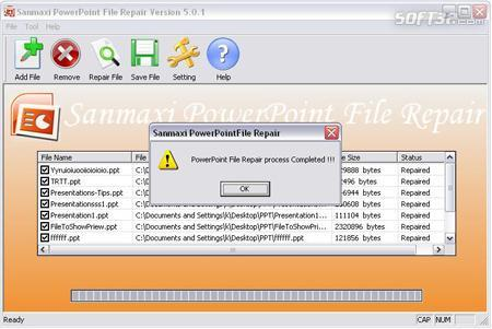 MS Powerpoint Recovery Tool Screenshot 2
