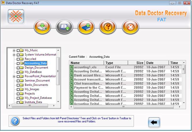 FAT Drive Data Recovery Screenshot 1