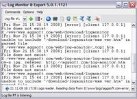 Log Monitor Export Screenshot