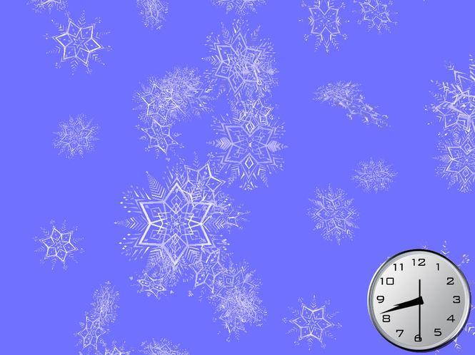 Shining Snowflakes 3D Screensaver Screenshot