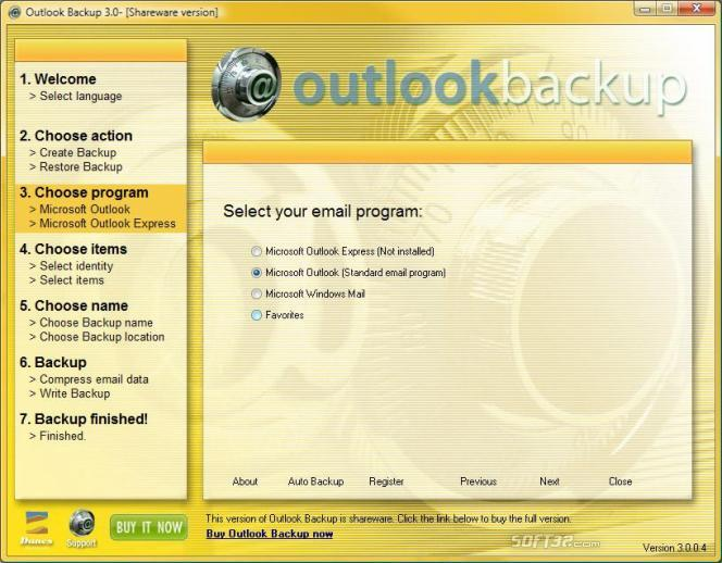 Outlook Backup Screenshot 2