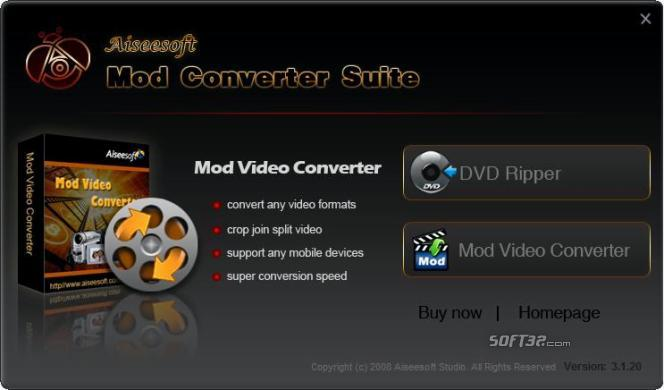Aiseesoft Mod Converter Suite Screenshot 3