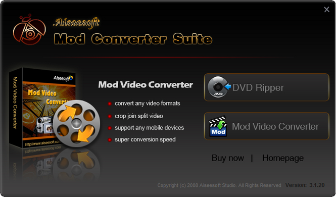 Aiseesoft Mod Converter Suite Screenshot 2
