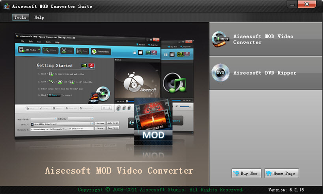 Aiseesoft Mod Converter Suite Screenshot 1