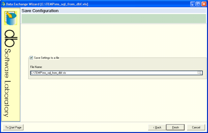 Data Exchange Wizard Screenshot 1
