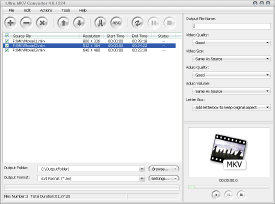 Ultra MKV Converter Screenshot 1
