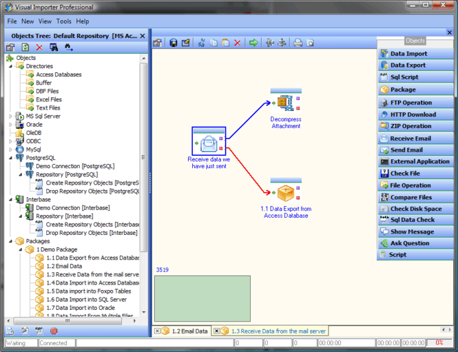 Visual Importer Professional Screenshot