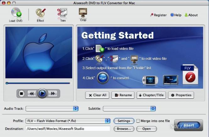 Aiseesoft DVD to FLV Converter for Mac Screenshot 2