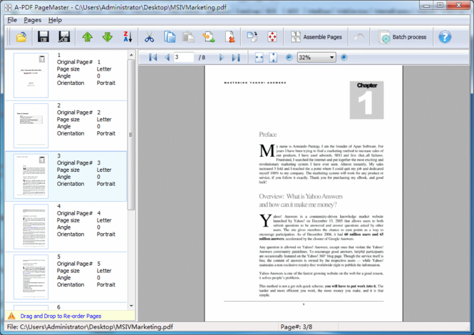 A-PDF Page Master Screenshot 1