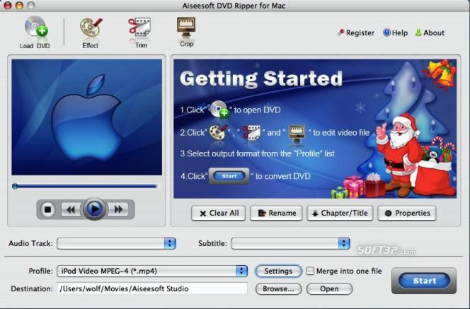 Aiseesoft DVD Ripper for Mac Screenshot 3