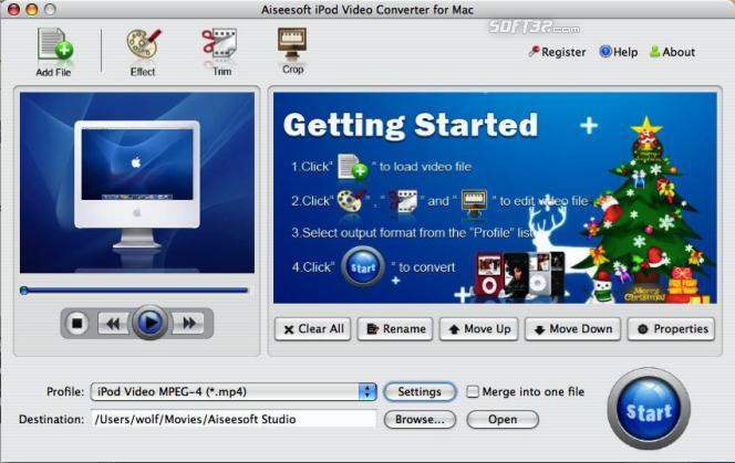 Aiseesoft iPod Video Converter for Mac Screenshot 2